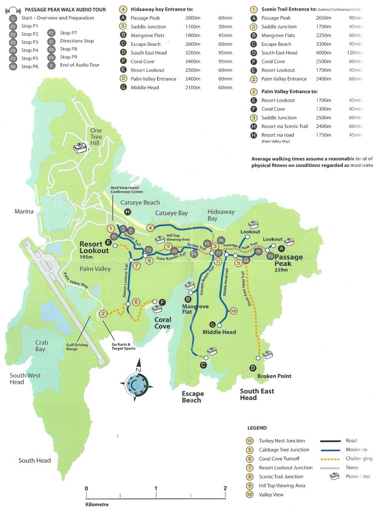 map of Hamilton Island hiking trails
