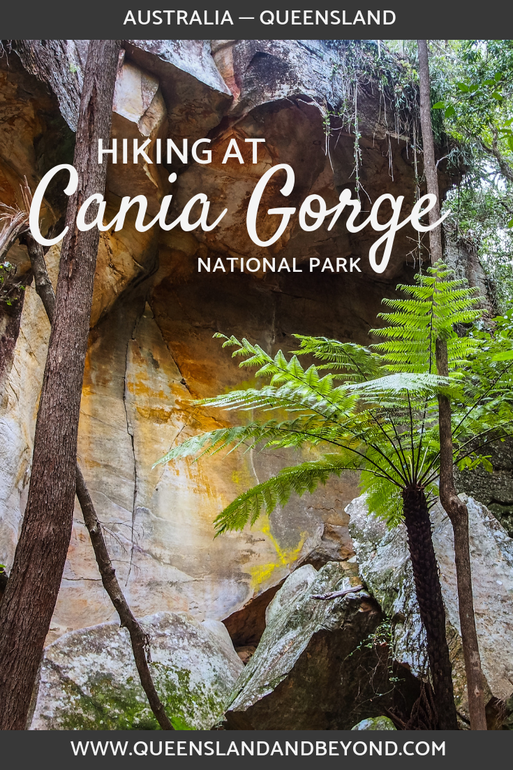 """Cania Gorge in Central Queensland is said to be a """"mini Carnarvon Gorge"""" offering sandstone rock formations, Aboriginal rock art, hiking trails, camping and more. We were somewhat underwhelmed but here are some hiking trails you could explore."""