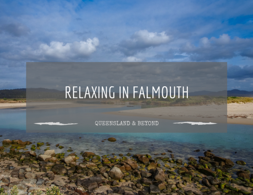 Relaxing in Falmouth, Tasmania…