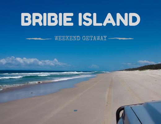 4WD-ing across sandy Bribie Island