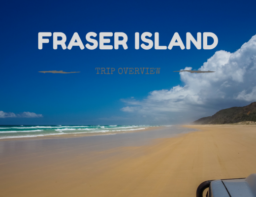 4WD-ing around Fraser Island at Christmas