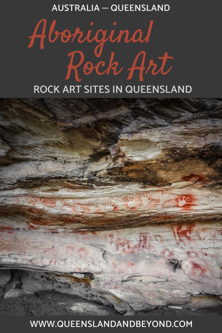 Aboriginal rock art sites in Queensland