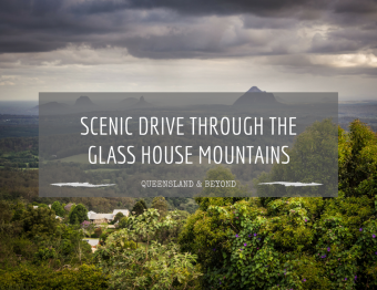 Scenic drive through the Glass House Mountains