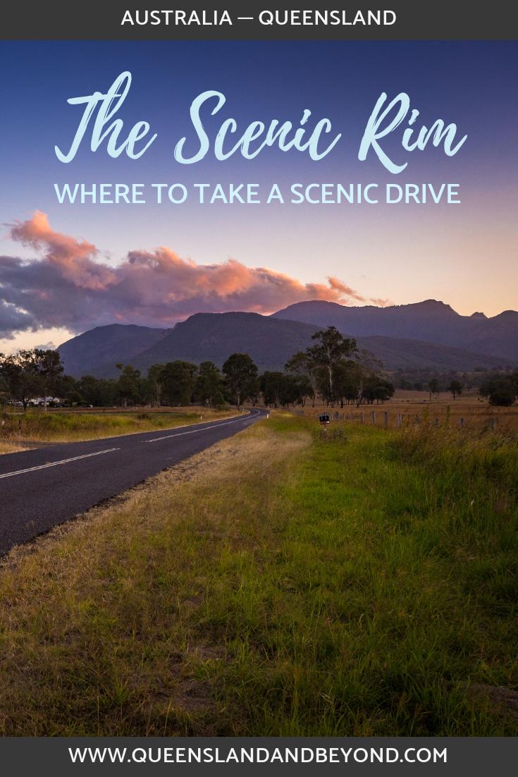 Scenic drive around the Scenic Rim in Queensland