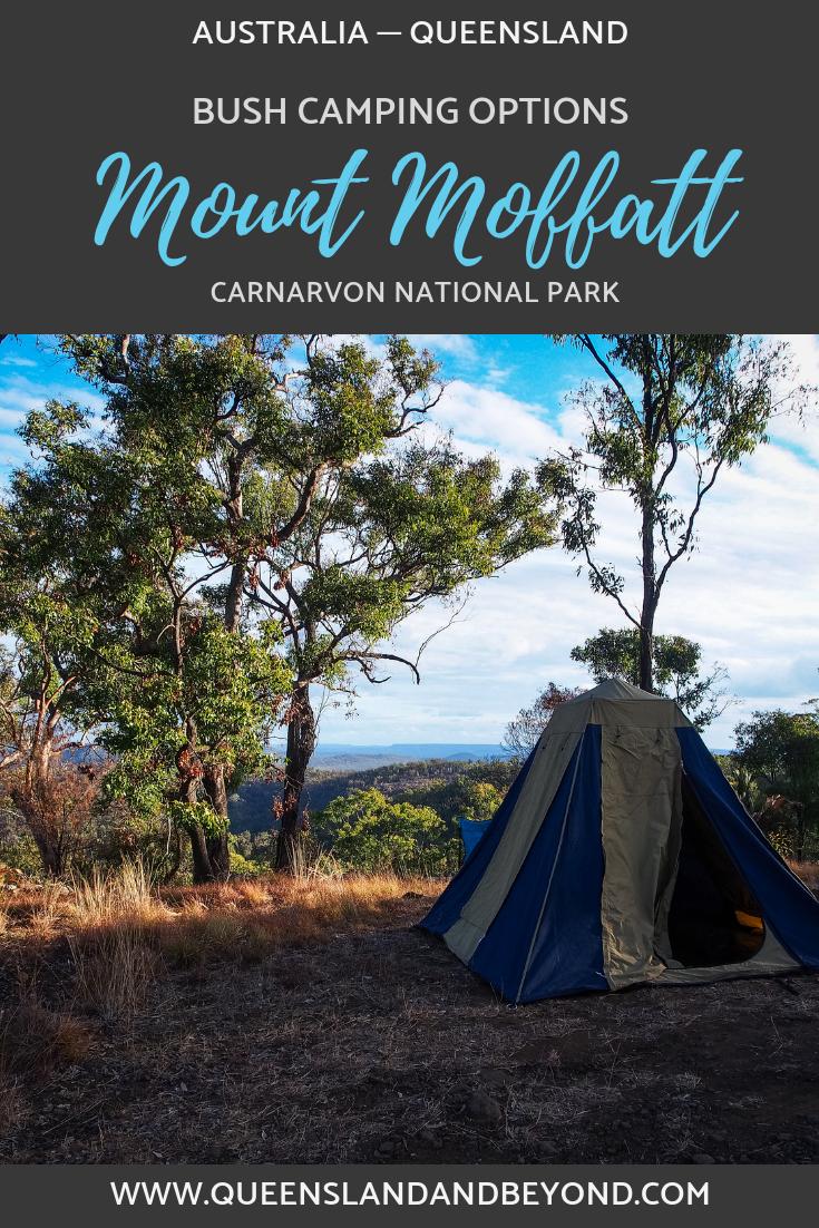 Camping options at Mount Moffatt, Carnarvon National Park
