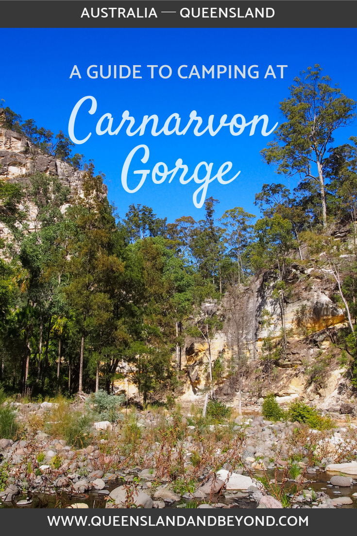 Camping at Carnarvon Gorge