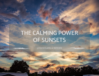 The calming power of a glorious sunset